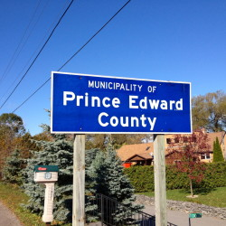 Prince Edward County Sign